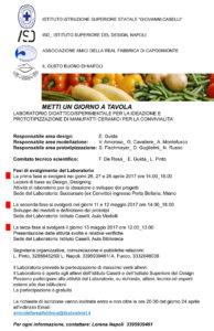 METTI UN GIORNO A TAVOLA LABORATORIO DIDATTICO/SPERIMENTALE PER